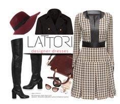 """LATTORI.com"" by monmondefou ❤ liked on Polyvore featuring Anja, Elie Saab, NARS Cosmetics, Ted Baker, Maison Margiela, Burberry, Lattori and lattori"