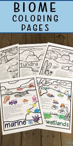 Learn about five different biomes as you color and read key facts about with free printable Biome Coloring Pages for graders. Free Kindergarten Worksheets, Science Worksheets, Kindergarten Science, Free Worksheets For Kids, Ecosystems Projects, Ecosystem Activities, Math Projects, Animal Worksheets, Maps For Kids