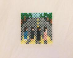 Items similar to Beatles Abbey Road Perler Bead Album Art Magnet on Etsy Melty Bead Patterns, Hama Beads Patterns, Beading Patterns, Pearler Beads, Fuse Beads, Hama Beads Coasters, Art Perle, Les Beatles, Perler Bead Art
