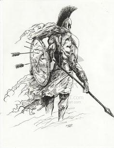 DeviantArt: More Like spartan warrior by Tattoos 3d, Body Art Tattoos, Tattoo Drawings, Sleeve Tattoos, Gladiator Tattoo, Future Tattoos, Tattoos For Guys, Spartan Tattoo, Warrior Drawing
