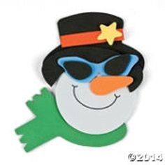 Foam Smile Face Snowman with Sunglasses Magnet Craft Kit - Makes 12 >>> You can get more details by clicking on the image.