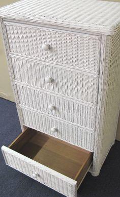 Wicker Dresser Drawer Open | Wicker Paradise