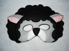 Children's Woodland Animals Felt Mask Super Combo of 8 Masks Woodland Animals, Farm Animals, Sheep Mask, Felt Mask, Animal Masks, Black Sheep, Busy Book, White Dogs, Mask Making