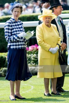 Queen Elizabeth II and Princess Anne, Princess Royal attend Royal Ascot 2017 at Ascot Racecourse on June 21, 2017 in Ascot, England.  (Photo by Mark Cuthbert/UK Press via Getty Images)