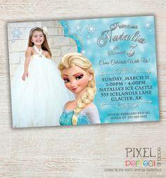 FROZEN PRINTABLE INVITATION Custom Frozen by PixelPerfectShoppe, $15.00