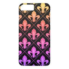 Mardi Gras Fleur De Lis iPhone 8 Plus/7 Plus Case - pattern sample design template diy cyo customize