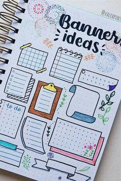 Bullet Journal School, Bullet Journal Boxes, Bullet Journal Lettering Ideas, Journal Fonts, Bullet Journal Notebook, Bullet Journal Ideas Pages, Bullet Journal Inspiration, Bullet Journal Headings, Bullet Journal Bookshelf