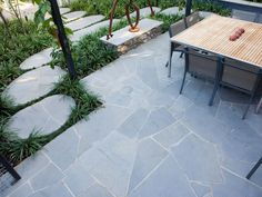 Eco Outdoor bluestone crazing paving courtyard,