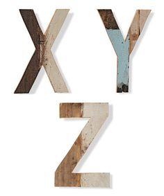 Another great find on #zulily! Wood Uppercase Letter Figurine - $7.00 (originally $26.00) on #zulilyfinds