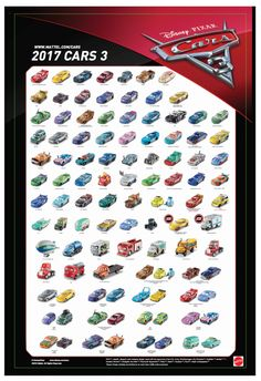Mattel Disney Pixar CARS 3: Poster-ized! | Take Five a Day