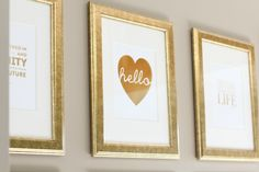 gold prints from SS Print Shop