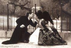 Skully Wedding: Sandra and Shanes beautiful gothic cemetary wedding