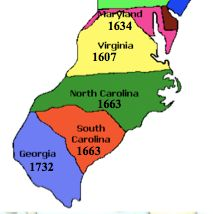 Southern Colonies Map southern colonies | The Southern Colonies' society was | Ideas for