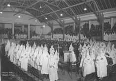 Ku Klux Klan Gathering, Crystal Pool (2nd and Lenora) in Downtown Seattle, WA. March 23, 1923.