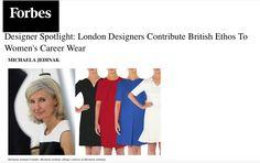 "Michaela Jedinak featured as one of the British designers designing WOMEN""S CAREER WEAR"