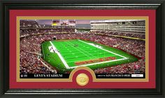 San Francisco 49ers Stadium Bronze Medallion Coin Panoramic Photo Mint