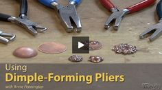 Art Jewelry magazine Associate Editor Annie Pennington shows you how to create dimples and decorative bumps in thin-gauge metal with dimple-forming pliers.