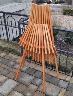 Oak Chair Natural Danish Oil Finish Folding Patio Furniture Kentucky Stick Accent Deck Unique Designer