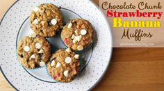 Chocolate Chunk Strawberry Banana Muffins to Help Fuel Their Adventures! | While He Was Napping