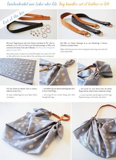 Furoshiki Wrapping, Japanese Knot Bag, Macrame Wall Hanging Patterns, Couture, Crafty Craft, Handmade Bags, Leather Working, Leather Craft, Diy Fashion