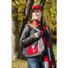 Hobo Bag Grays & Red - Made in the U.S.A. Natesamericanmadestore.com