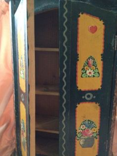 Treasure Chest Vintage Tabletop Cabinet Handpainted by WISHmyWISH, $42.00