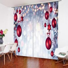 3D Christmas Art Printed Curtains 52 * 84 3d Curtains, Printed Curtains, Blackout Curtains, Curtain Weights, Curtain Rods, Light Well, 3d Christmas