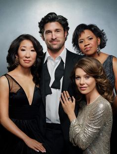 Love the four of them Cristina, McDreamy, Bailey and Meredith- Grey's Anatomy