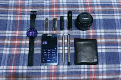 My everyday carry is used for almost everything from opening cardboard boxes with my Swiss Army Knife Mini Champ to counting how many steps I've taken with my Smart Watch.