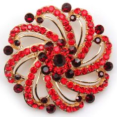 B33 GORGEOUS FLOWER CRYSTAL Rhinestone PIN Brooch. 4 COLOURS.