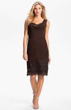 Short Lace Stretch Jersey Dress