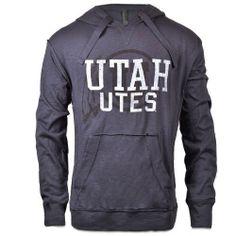 Utah Utes Rustic Grey Hoodie. #goutes #universityofutah #gifts