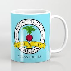 Schrute Farms | The Office - Dwight Schrute Coffee Mug by Silvio Ledbetter. Worldwide shipping available at Society6.com. Just one of millions of high quality products available.