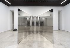 """, 2007. coated steel, stainless steel, and sound, 9' 10-1/8"""" x 9' 10-1/8"""" x 9' 2-1/4"""" (300 cm x 300 cm x 280 cm)."""