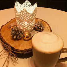 Deko Baumscheibe Weihnachten Weihnachtsdeko Kerze
