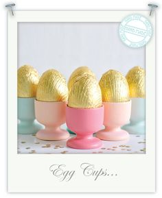 Items similar to Hand Painted Wooden Egg Cups on Etsy Hoppy Easter, Easter Eggs, Easter Bunny, Vintage Egg Cups, Egg Holder, Cup Holders, Easter Parade, Easter Treats, Decor Crafts