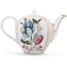 Pip Studio Spring To Life Teapot - Cream - Large (€46) ❤ liked on Polyvore featuring home, kitchen & dining, teapots, pip studio teapot, pip studio, porcelain teapot, floral teapot and porcelain tea pot
