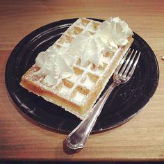 Amorino Belgium Waffle -- delicious! #amorino