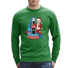 A Merry Vault Season Christmas Fallout Cola Men's Sweatshirt Men's Sweatshirt Cloud City 7 - 1
