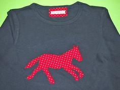 T-Shirts - hüah! la-shirt mit Pferd mit Pünktchen! - ein Designerstück von engelchen bei DaWanda