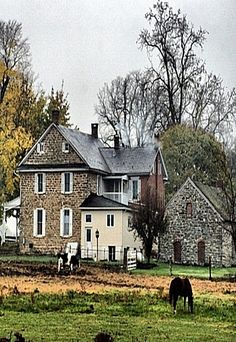 Old Brick Farm House- SO beautiful. Old homes are a constant work in progress. Something always gives out. But they are also a labor of love and the work would be worth it for me to live in a place like this. *sigh*