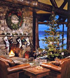 rustic christmas-a real tree in the barn would be awesome... Like tradition, go out Christmas Eve and get a deal as one of the last ones on the lot... Big or Charlie Brown type, who cares.... Just like Lois and red used to do. That's what I want for Christmas. ;) plus family dinner and generation/group pictures. <3
