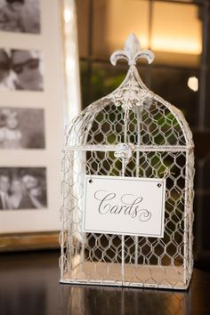 Bird Cage | emilie inc. photography #AldenCastle #ModernVintage #Wedding #BirdCage #CardBox #WeddingDetails