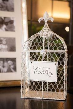 Bird Cage   emilie inc. photography #AldenCastle #ModernVintage #Wedding #BirdCage #CardBox #WeddingDetails