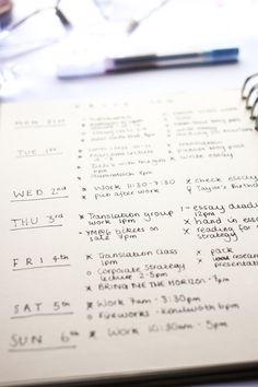 Bullet Journal for University Setup | www.hannahemilylane.com