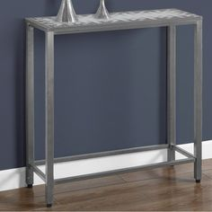 Monarch Specialties Console Table - Gray/Blue | from hayneedle.com