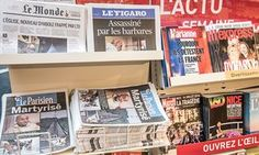 A news stand in France