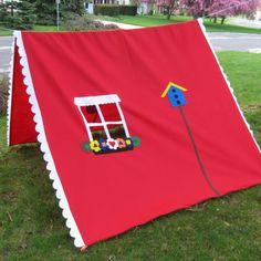Clothesline tent