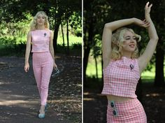 Get this look: http://lb.nu/look/7822006  More looks by Kayla J: http://lb.nu/gracefullyvintage  Items in this look:  Erstwilder Fairest Of Them All Brooch, Collectif Gingham Top, Collectif Gingham Trousers, Melissa X Vivienne Westwood Lady Dragon Pom Pom Shoes   #erstwilder #collectif #collectifclothing #gingham #vintage #retro #pinup #60s #60smod