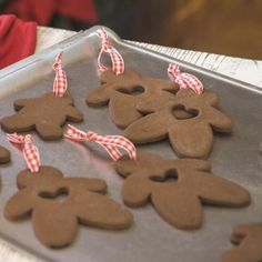 Gooseberry Patch Recipes: Easy Cinnamon-Applesauce Ornaments. They make wonderful gifts, garlands and package tie-ons too!